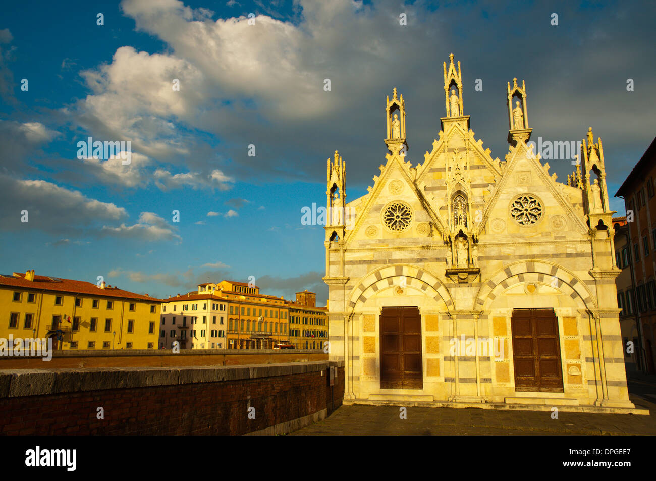 Chiesa di Santa Maria della Spina Gothic style church (1230) Pisa city Tuscany region Italy Europe - Stock Image