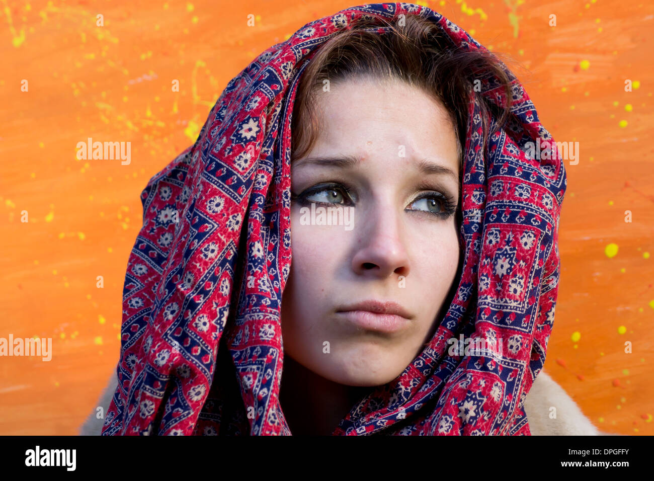 Sikh girl fair skin - Stock Image
