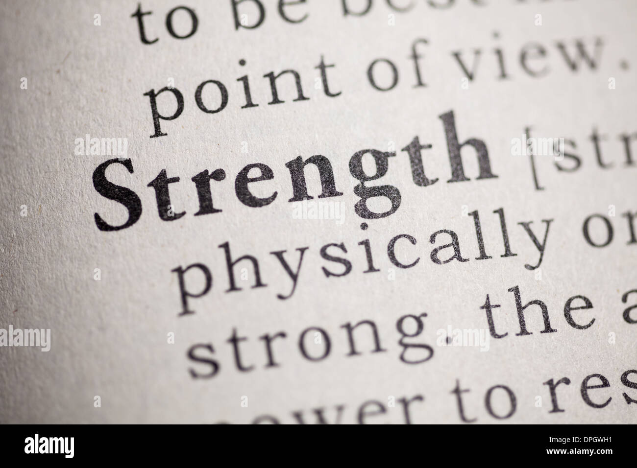 Fake Dictionary, Dictionary definition of the word strength