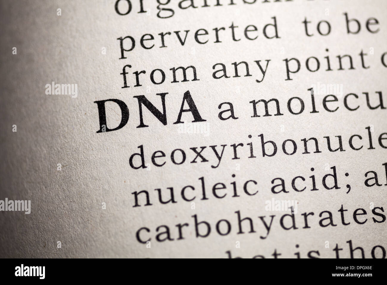 Fake Dictionary, Dictionary definition of DNA. - Stock Image