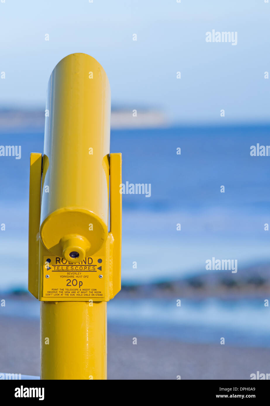 Tradition holiday scope used to look at sea views Stock Photo
