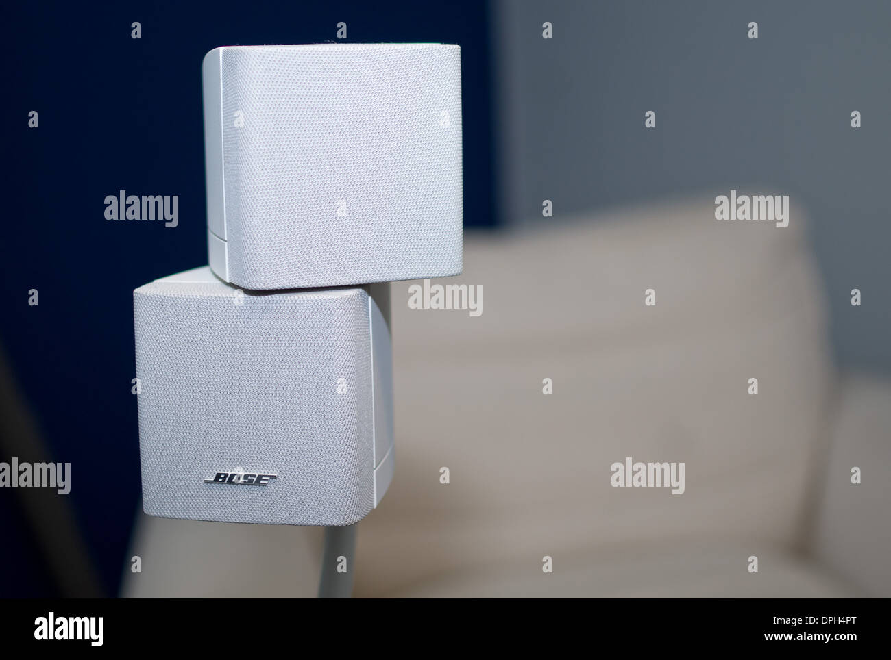 HI fi high quality sound small discrete speakers - Stock Image