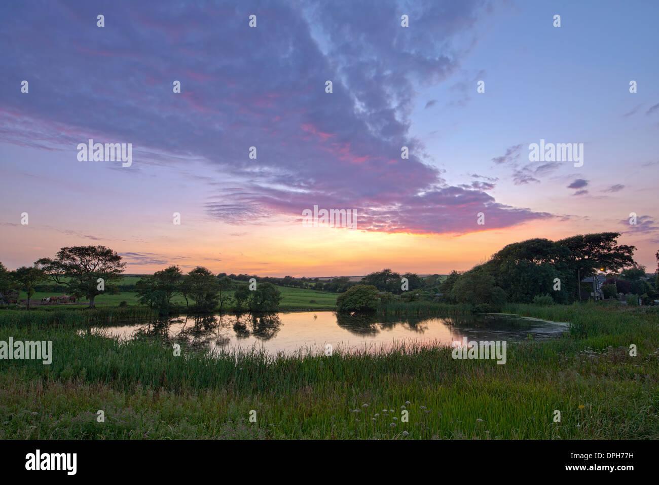The Pond, St Brides Major Stock Photo