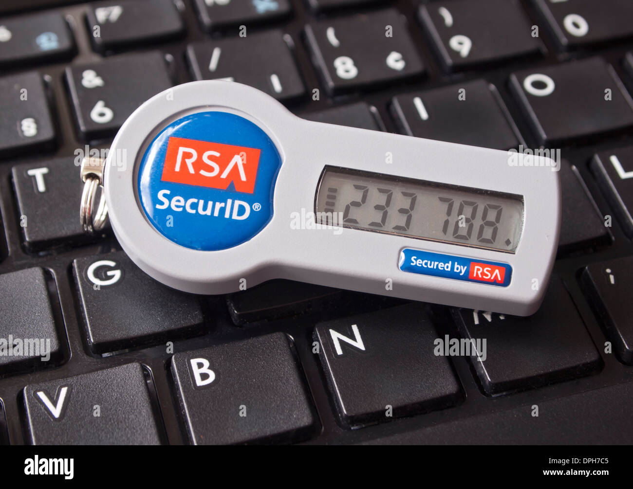 An internet security token of the US based company RSA Security Inc. on June 24, 2011. - Stock Image