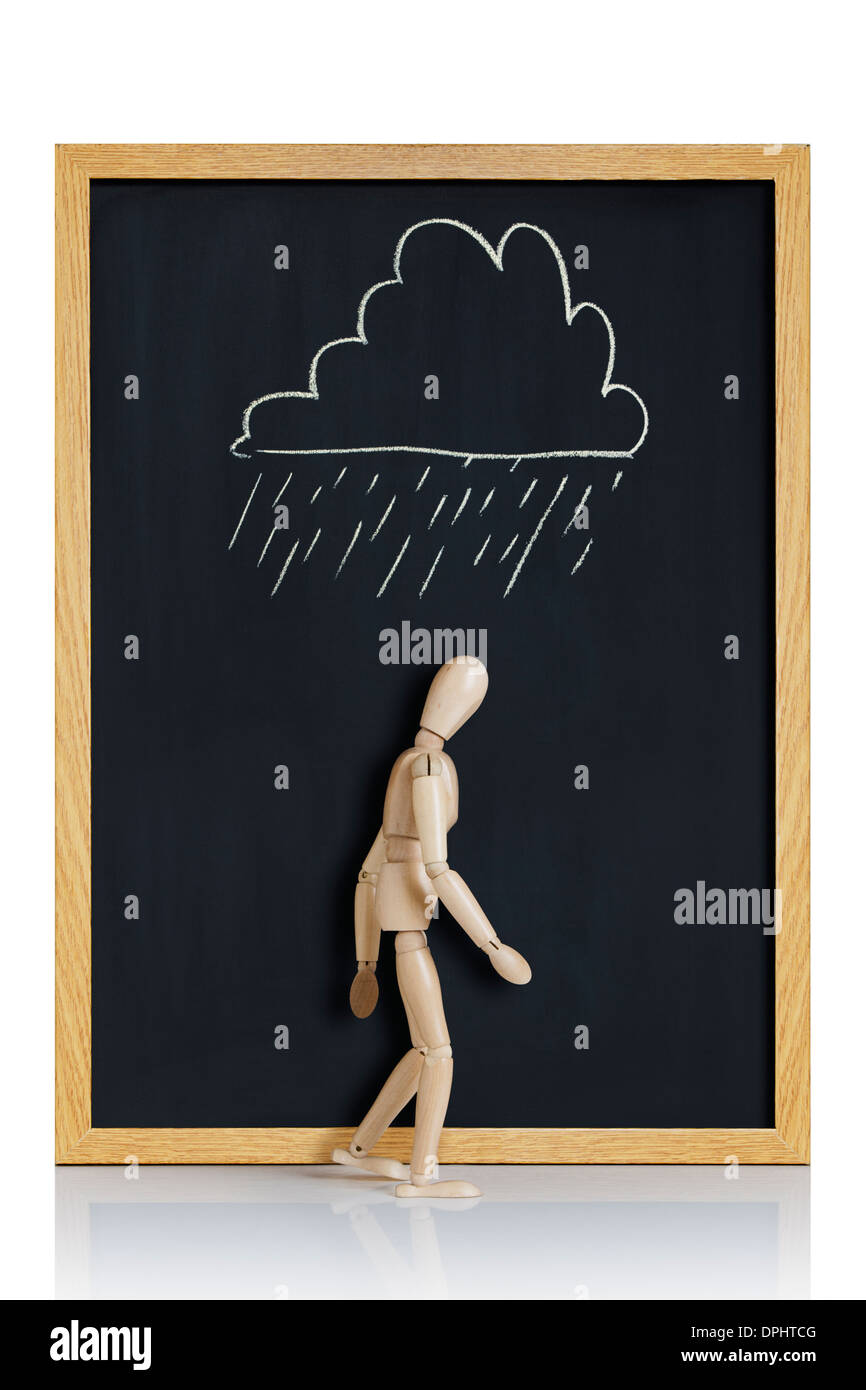 cloud hanging over my head - Stock Image