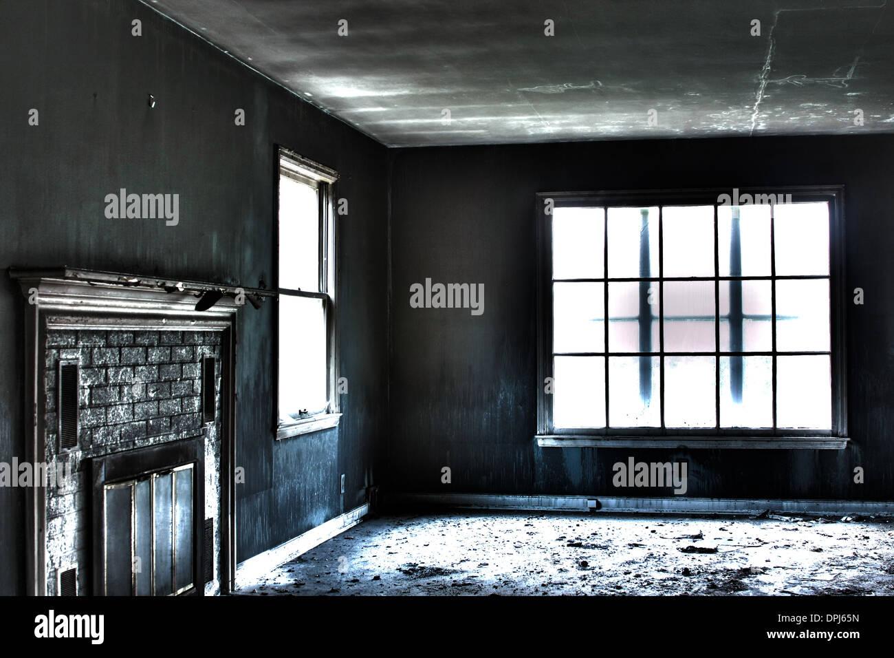 Smoke Damaged Living Room