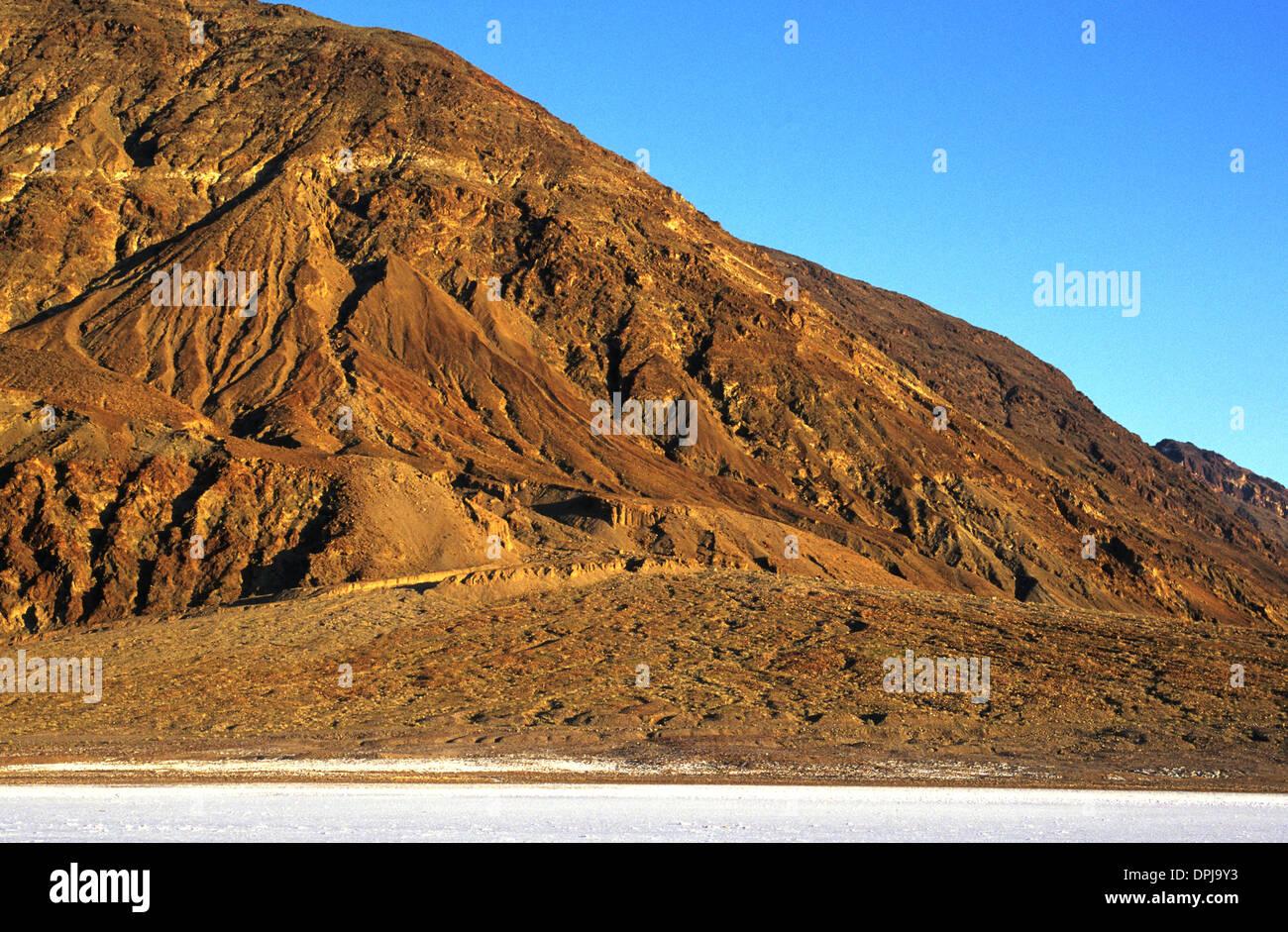 Elk248-1724 California, Death Valley National Park, Shoreline Butte, alluvial fan - Stock Image