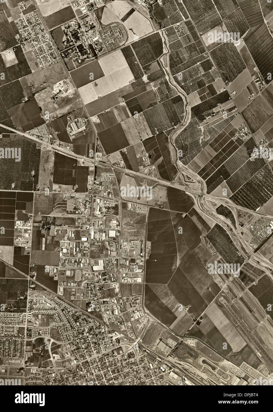 historical aerial photograph Santa Clara, California, 1960 - Stock Image