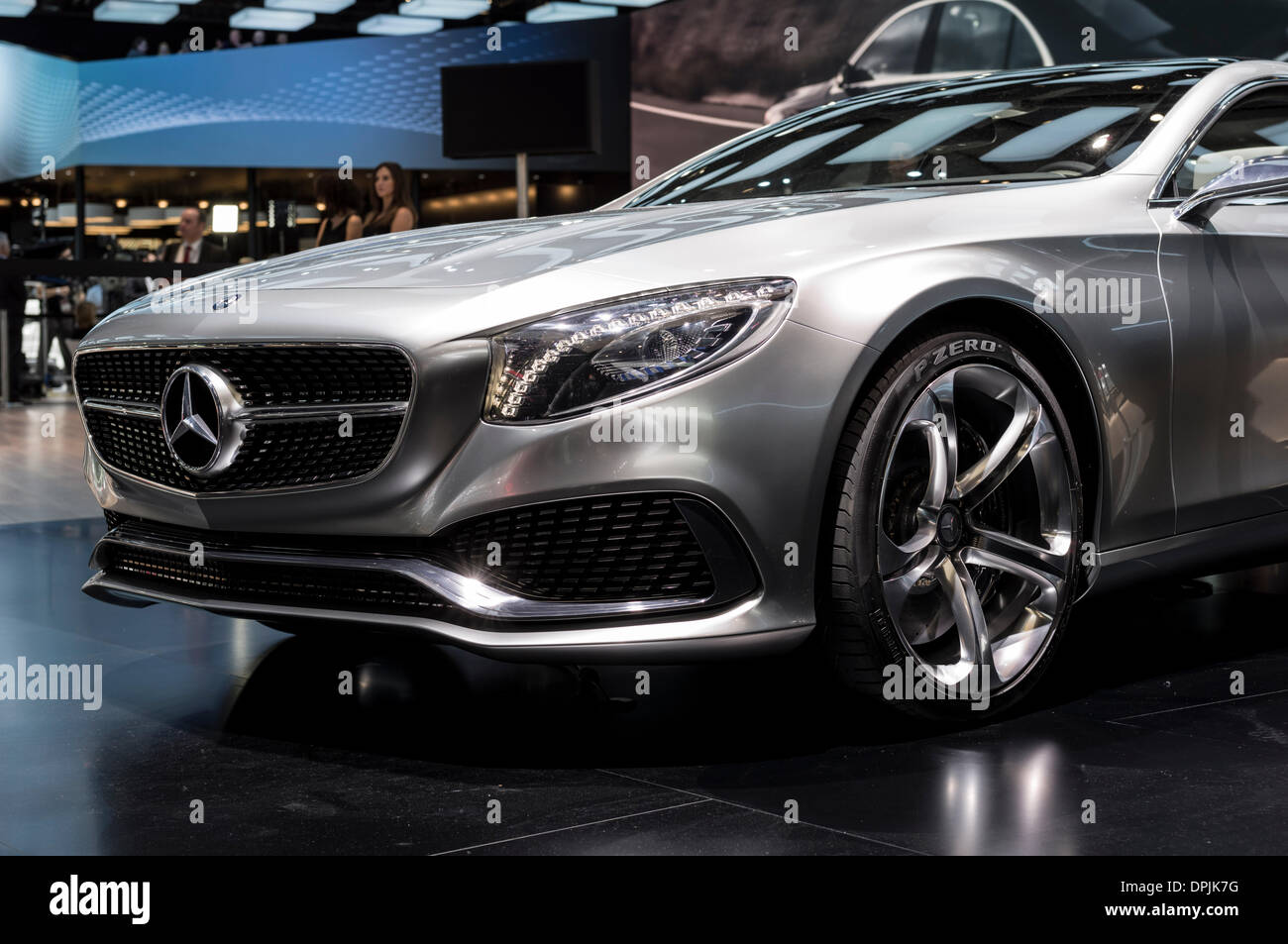 Detroit, Michigan, USA. 13th January 2014. Mercedes-Benz S-Class Coupe Concept at the 2014 Detroit Auto Show Credit: - Stock Image