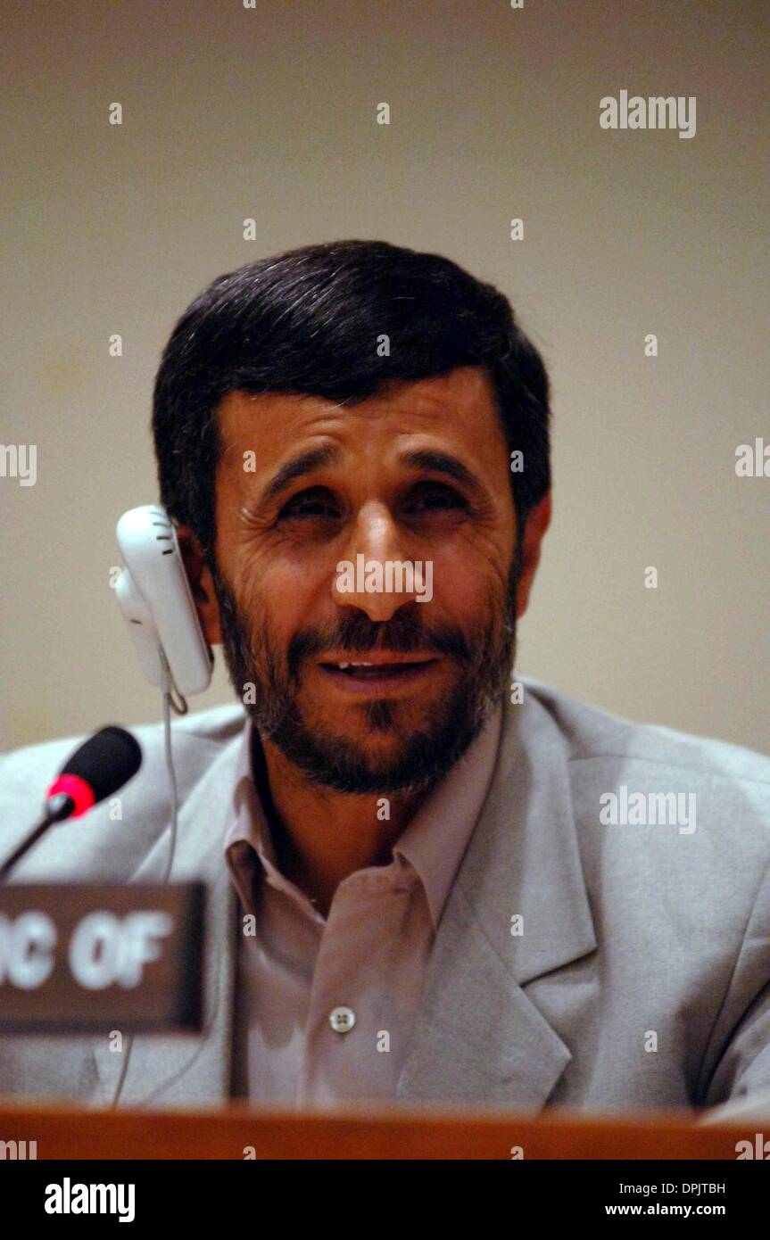 Sept. 21, 2006 - New York, New York, USA - President of Iran Ahmadinejad holds a press conference at the United Stock Photo