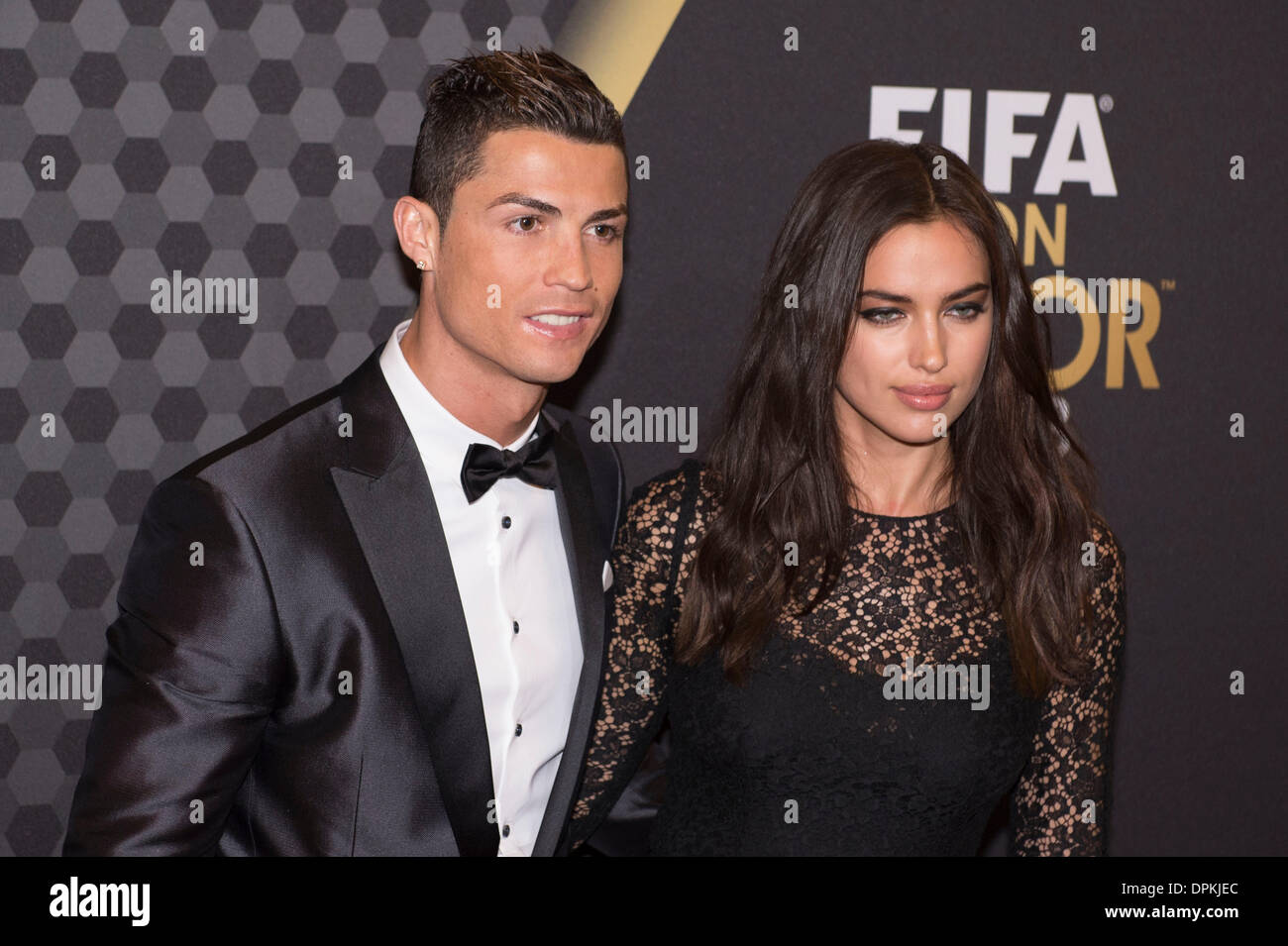 Zurich, Switzerland. 13th Jan, 2014. (L-R) Cristiano ... Irina Shayk And Cristiano Ronaldo 2013