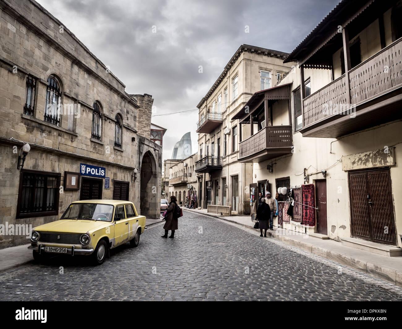 The Old Town (Icheri Sheher) Old Town of Baku, Azerbaijan - Stock Image