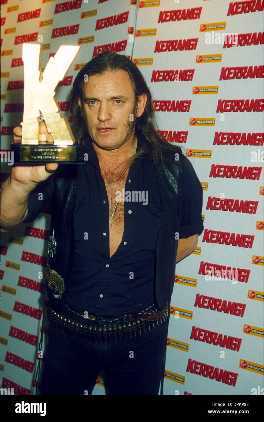 Dec. 15, 2005 - LEMMY .''KERRANG'' HEAVY METAL AWARDS 1998.© DAVE BENETT-   GETTY IMAGES(Credit Image: © Globe Photos/ZUMAPRESS.com) - Stock Image