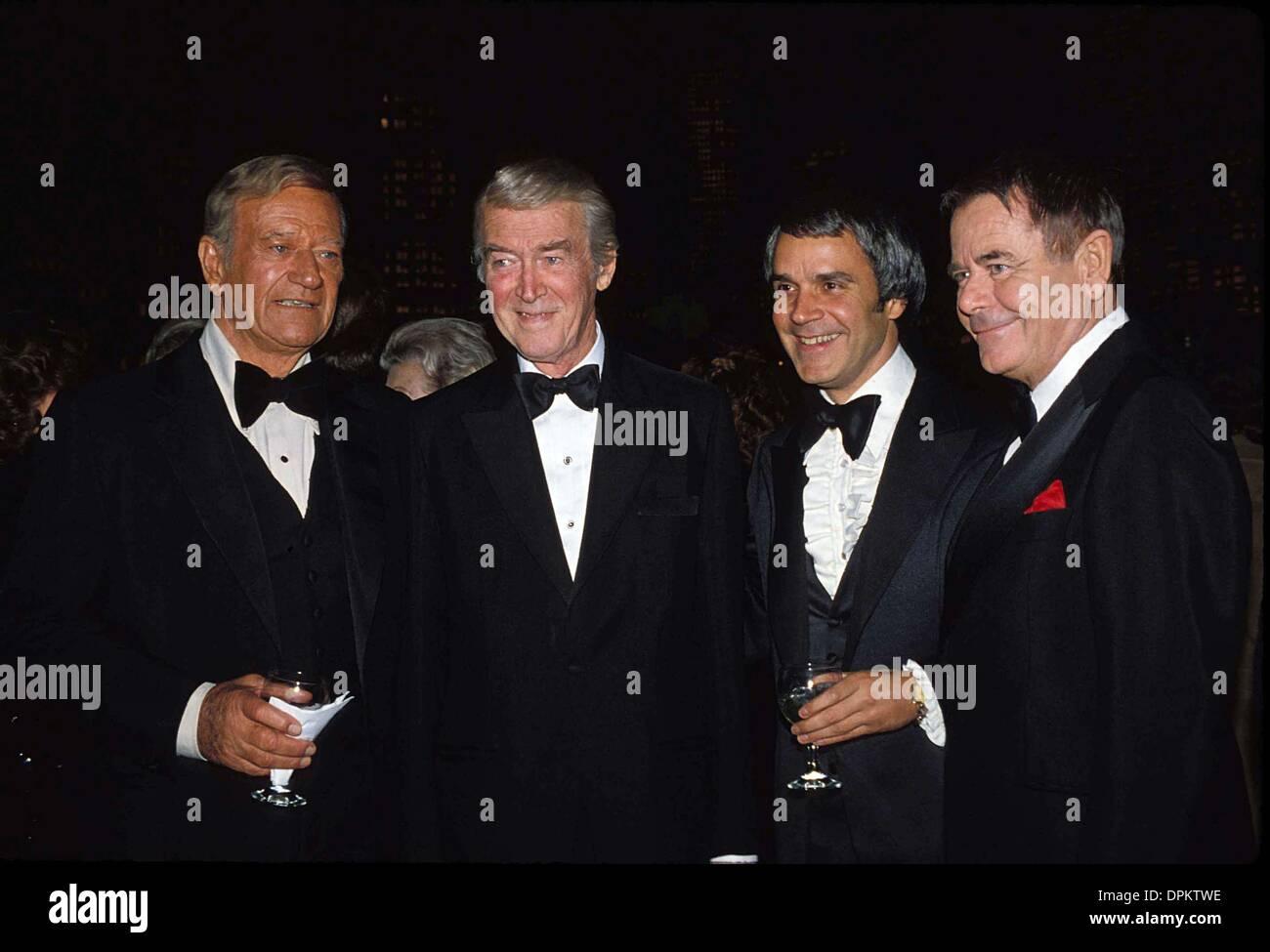 Aug. 31, 2006 - GLENN FORD WITH JOHN WAYNE , JIMMY STEWART AND RICH LITTLE 1978.G8494S. BOB NOBLE-(Credit Image: Stock Photo