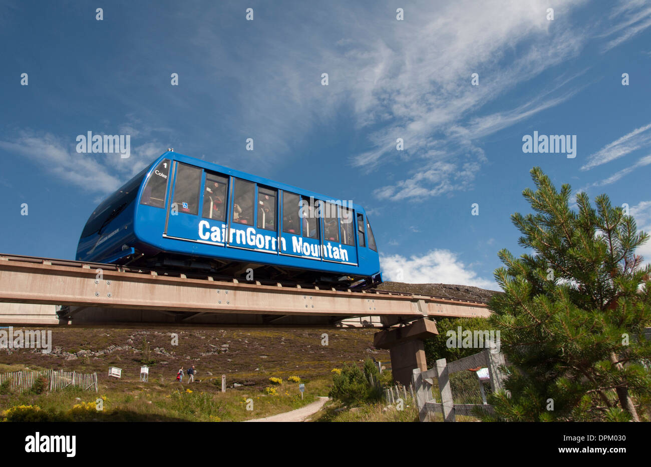SCOTLANDS; HIGHLANDS; THE CAIRNGORM MOUNTAIN FUNICULAR - Stock Image