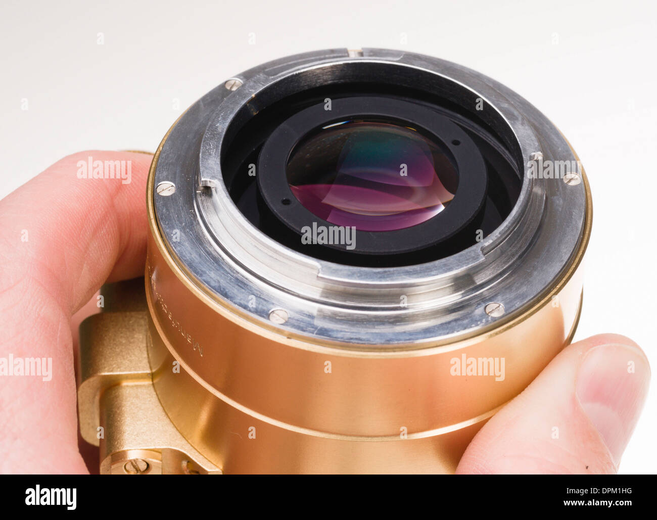 Nikon mount, Lomography Petzval lens project - Kickstarter internet production run funded by orders. Replica of 1840 lens. - Stock Image