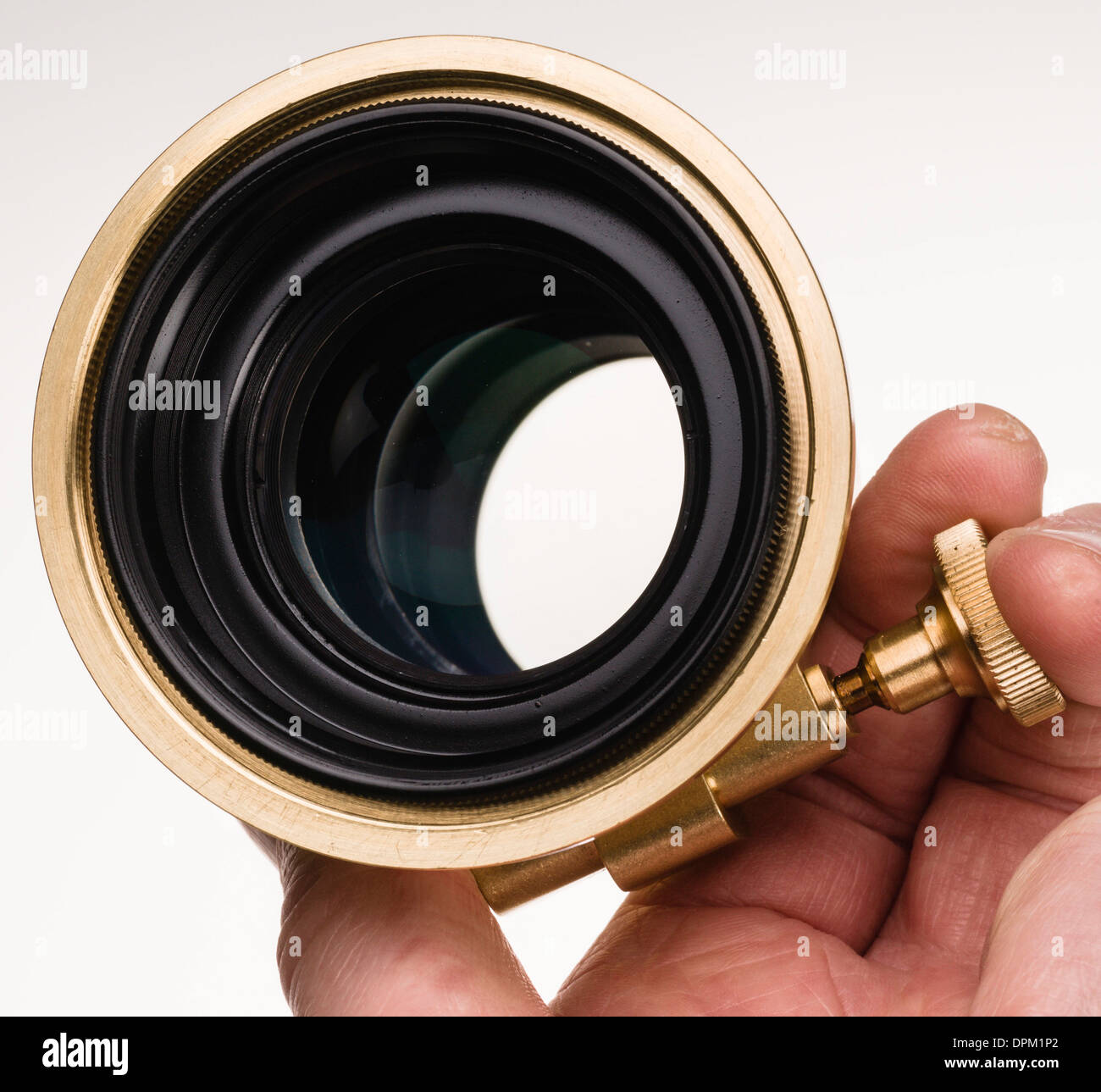 Lomography Petzval lens project - Kickstarter internet production run funded by orders. Replica of 1840 lens. - Stock Image