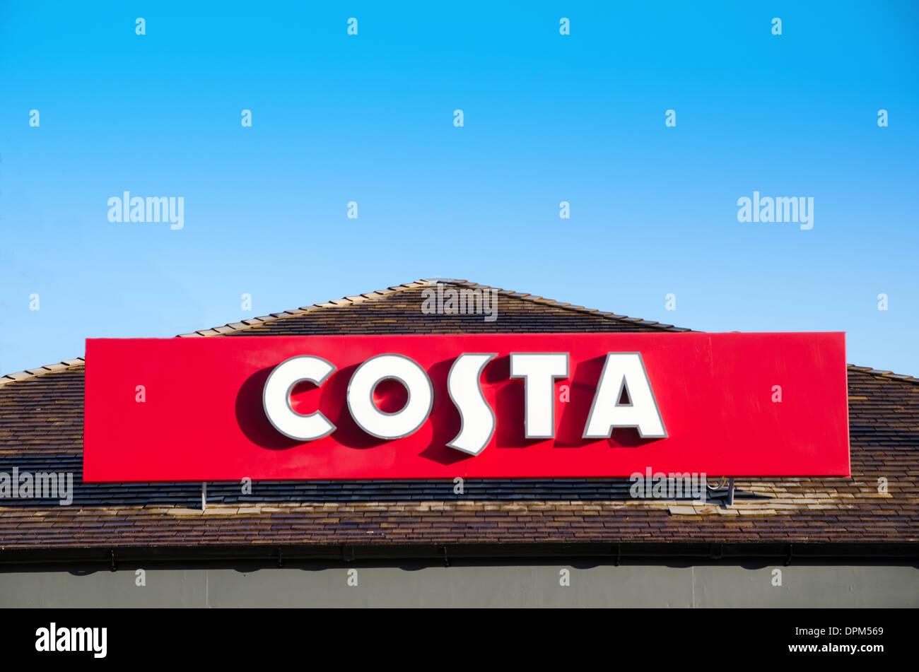 Costa Coffee sign - Stock Image
