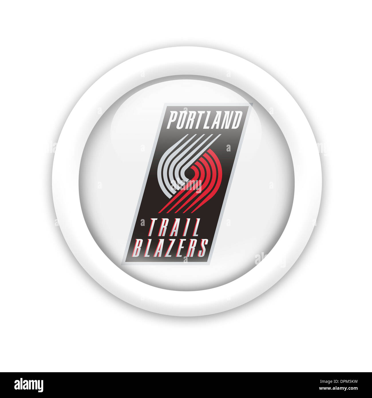 Portland Trail Blazers Logo Flag Symbol Icon Emblem Stock Photo