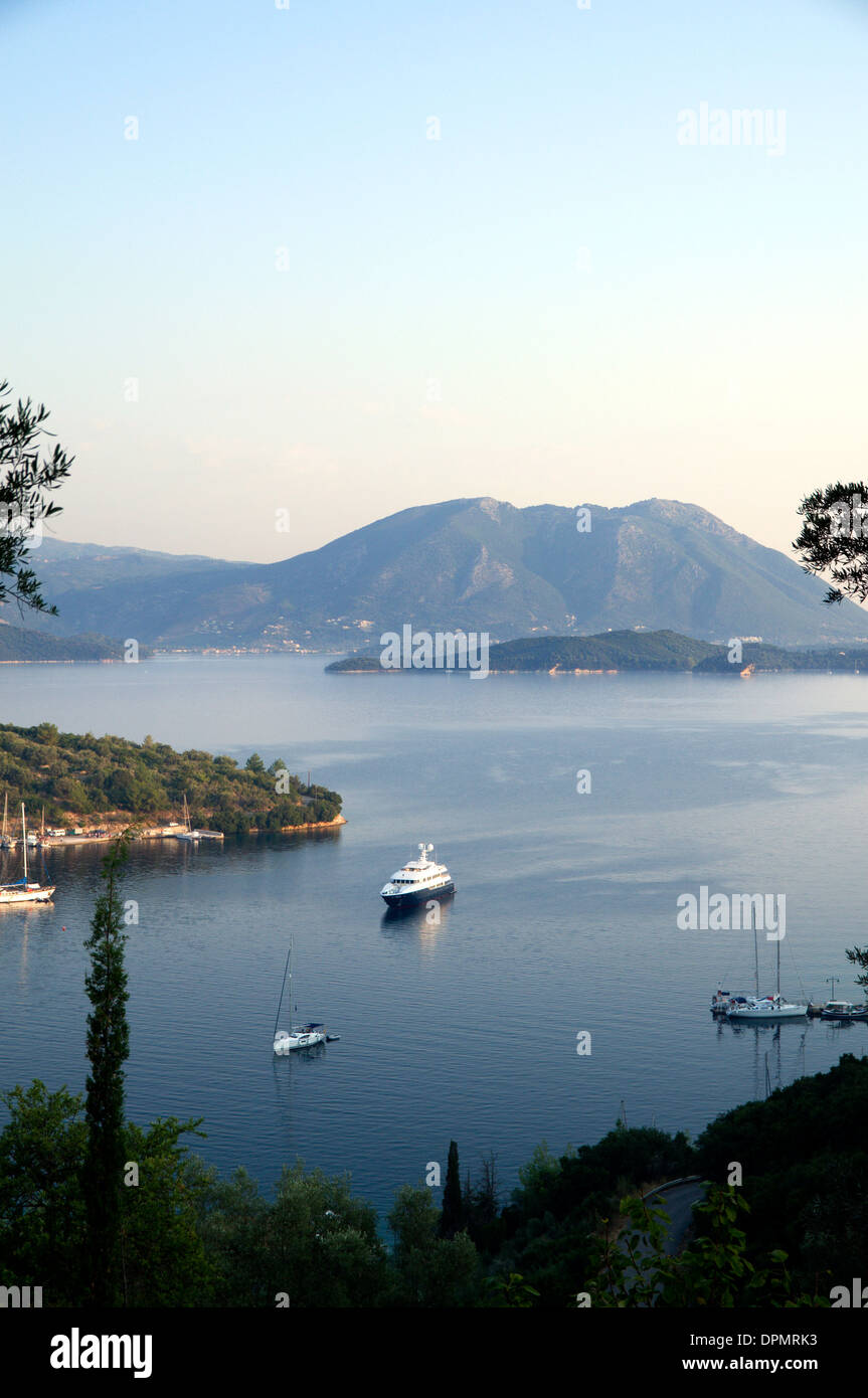 Spilia harbour, Spartochori, Meganisi, Ionian Islands, Greece. - Stock Image