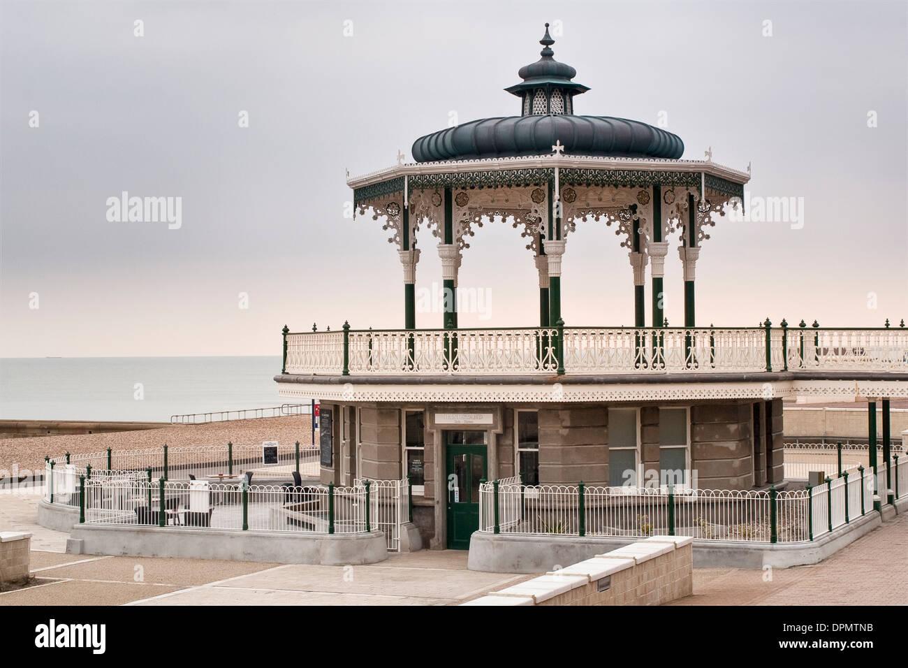 King's Road Bandstand Brighton Victorian cast iron Promenade structure Stock Photo