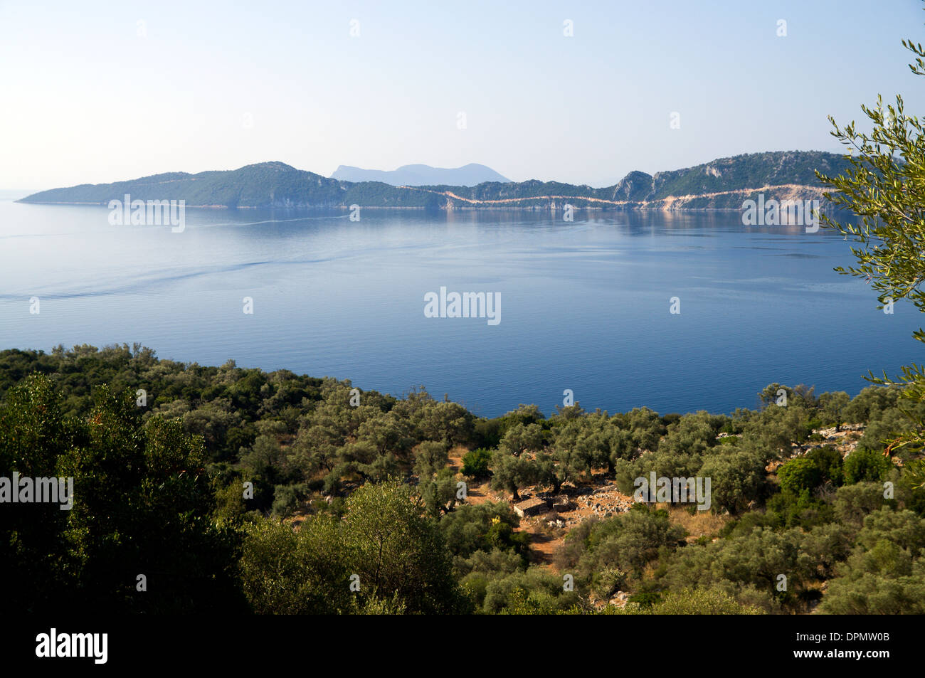 View of the Tail of Meganisi Island, Lefkas, Ionian Islands, Greece. - Stock Image