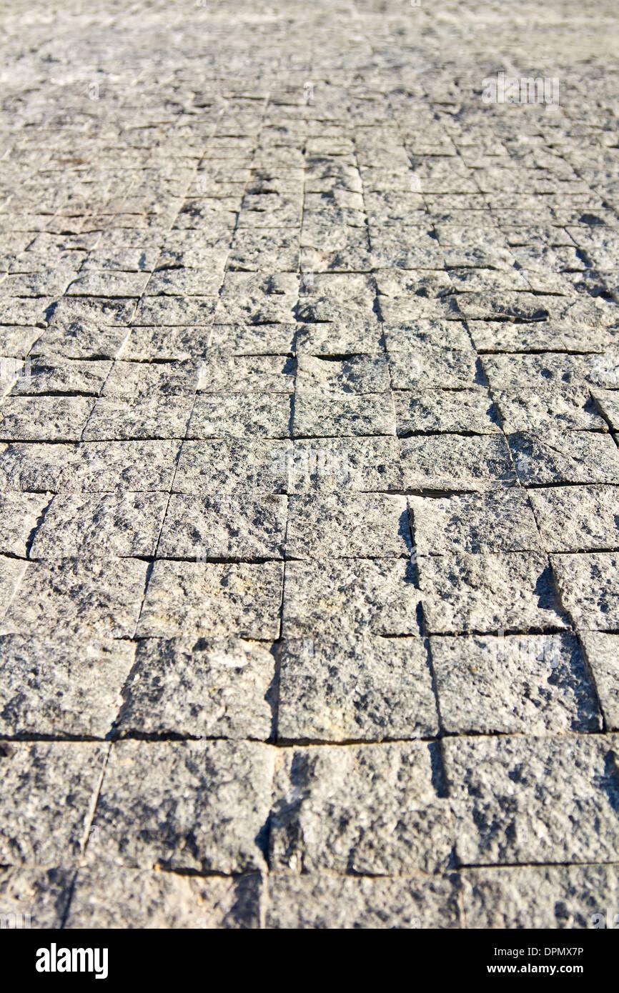 Close up outdoor sand texture floor tiles Stock Photo