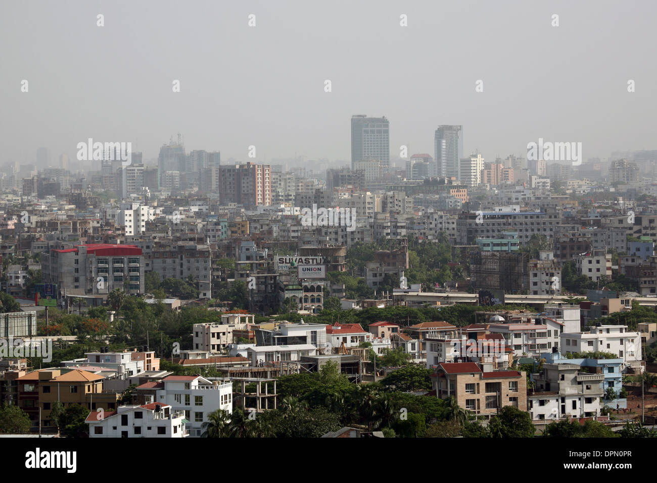Early morning overview of the city of Dhaka, Bangladesh - Stock Image