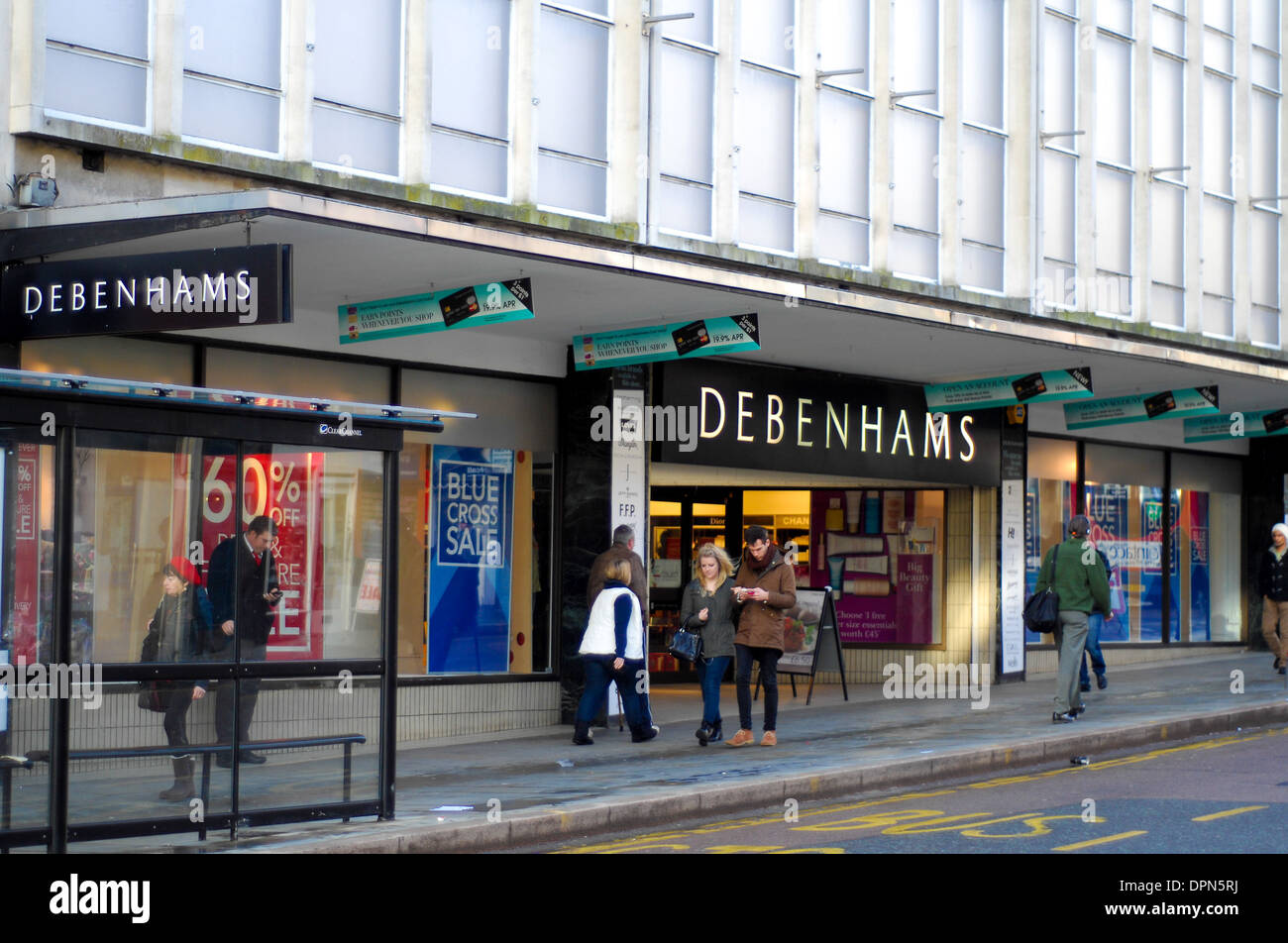 Debenhams shop front Northampton retail chain - Stock Image