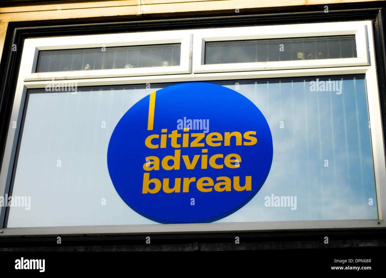 Citizens advice bureau - Stock Image