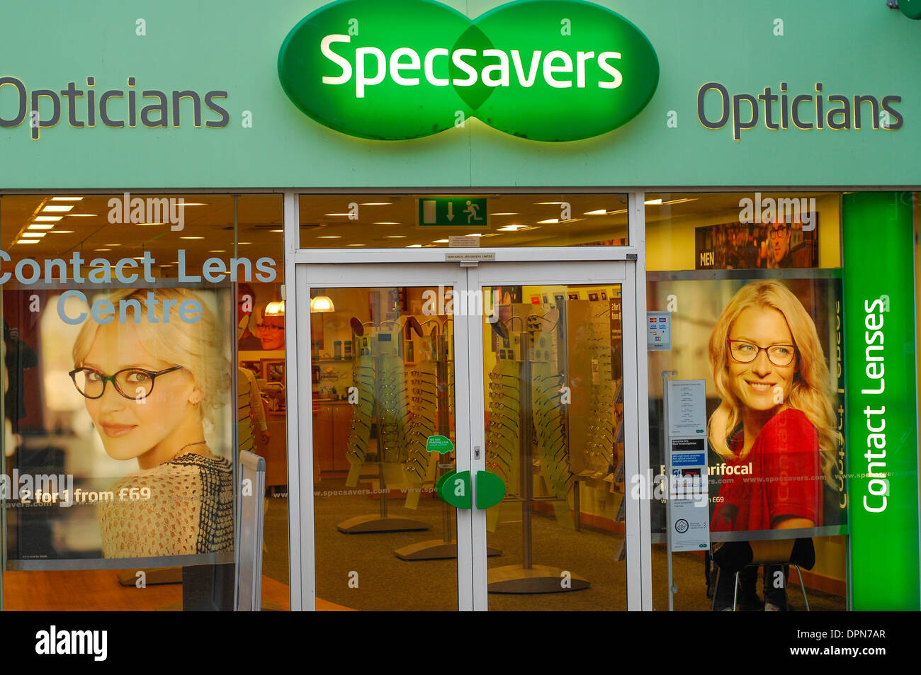 Specsavers shop front Stock Photo