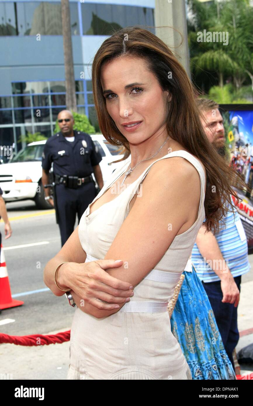 Andie Macdowell Nackt july 30 2006 hollywood california stock photos & july 30