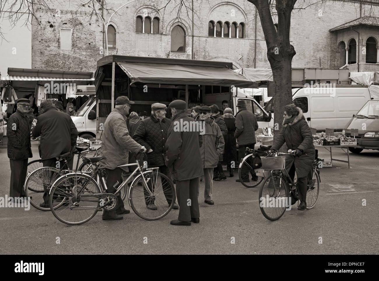 Piazza Martiri della Liberta, Faenza, Emilia Romagna Stock Photo