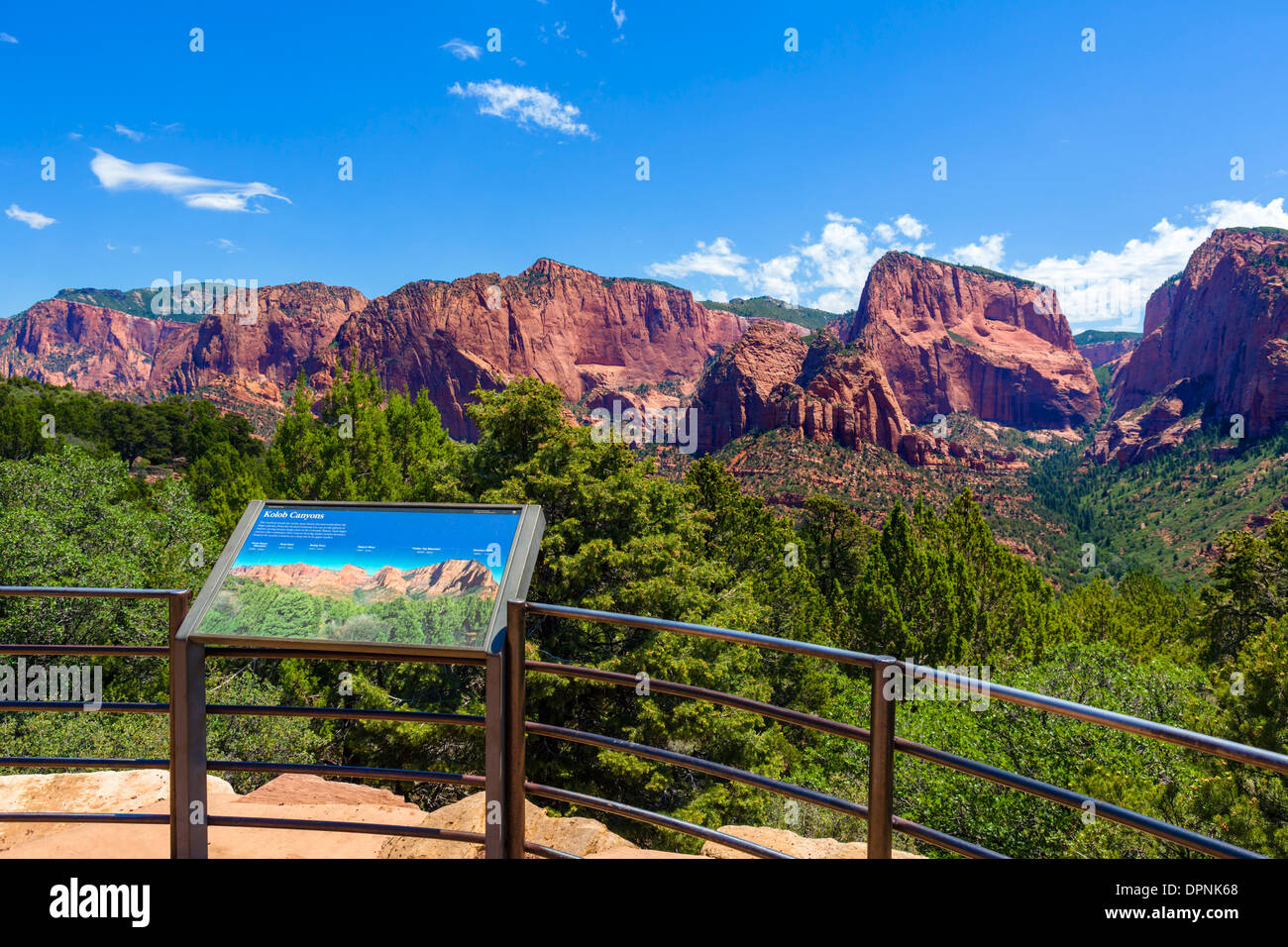 Overlook in Kolob Canyons section of Zion National Park, Utah, USA - Stock Image