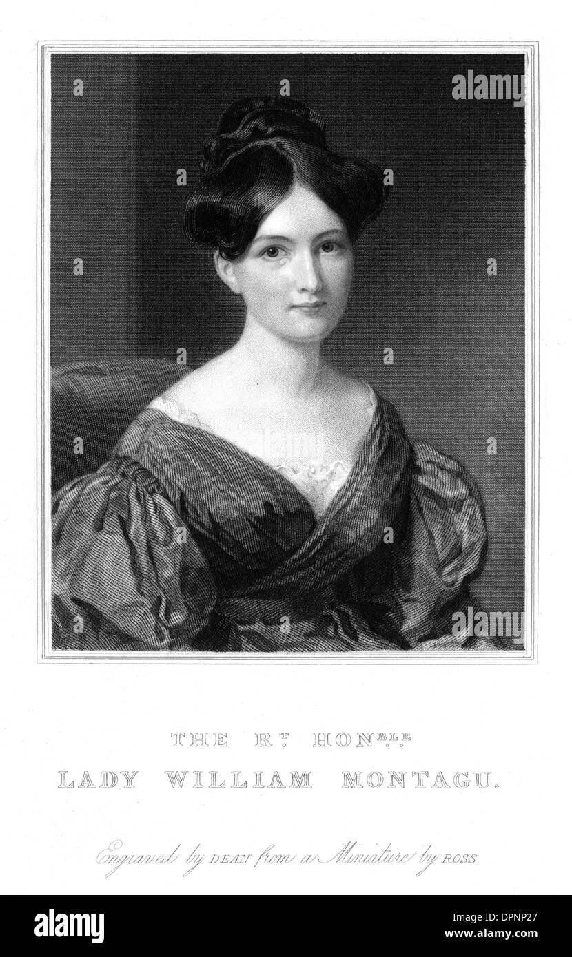 EMILY LADY MONTAGU - Stock Image