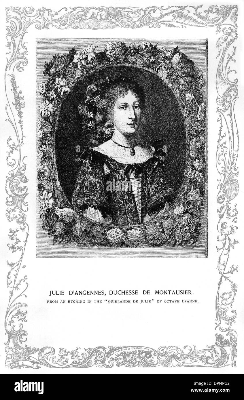 JULIE DUCHESS MONTAUSIER - Stock Image