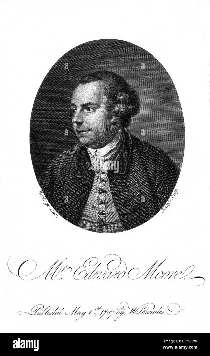 EDWARD MOORE - Stock Image