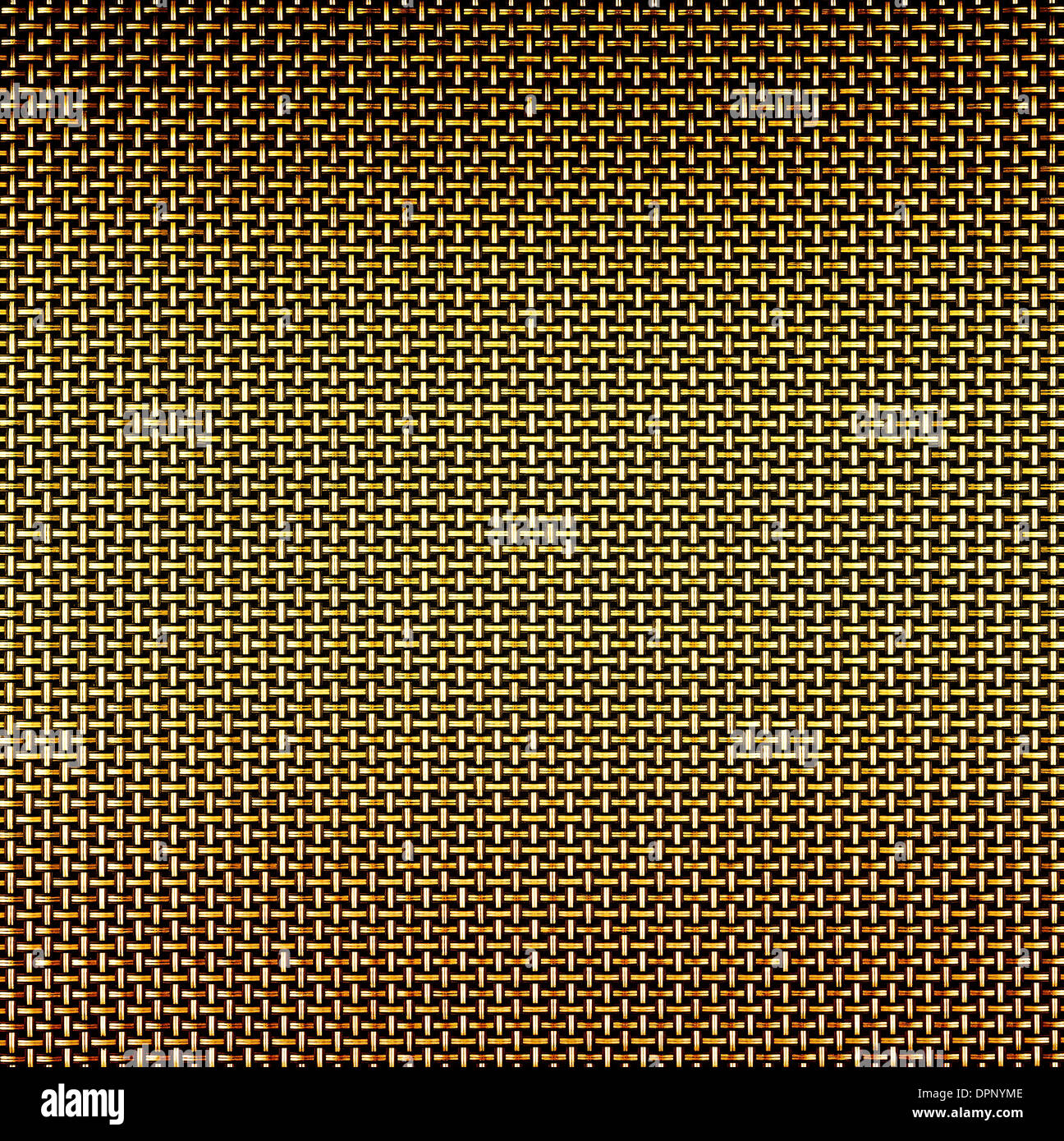 Golden wire grid background - Stock Image