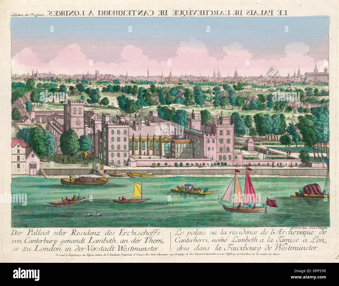 LAMBETH PALACE C18 - Stock Image