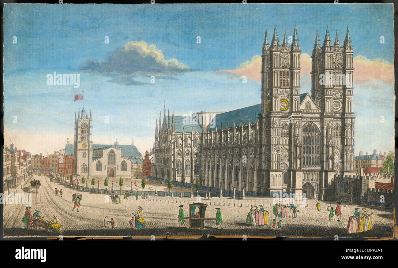 WESTMINSTER ABBEY C18 - Stock Image