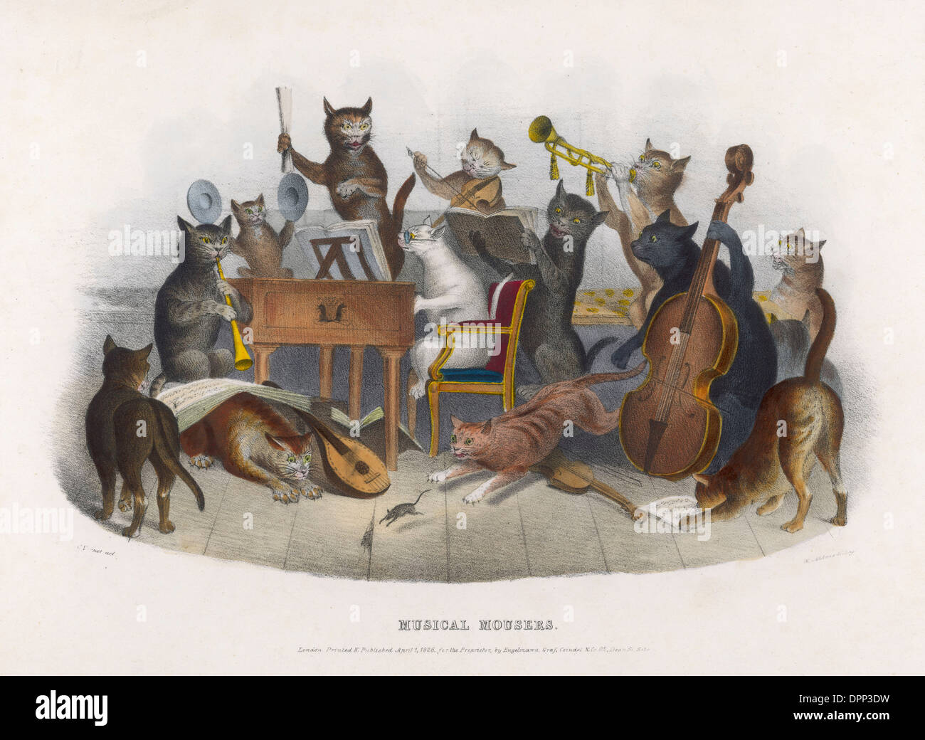 MUSICAL MOUSERS - Stock Image