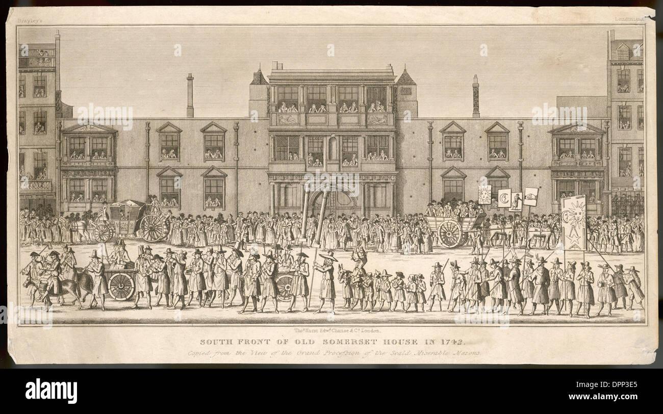 SOMERSET HOUSE 1742 - Stock Image