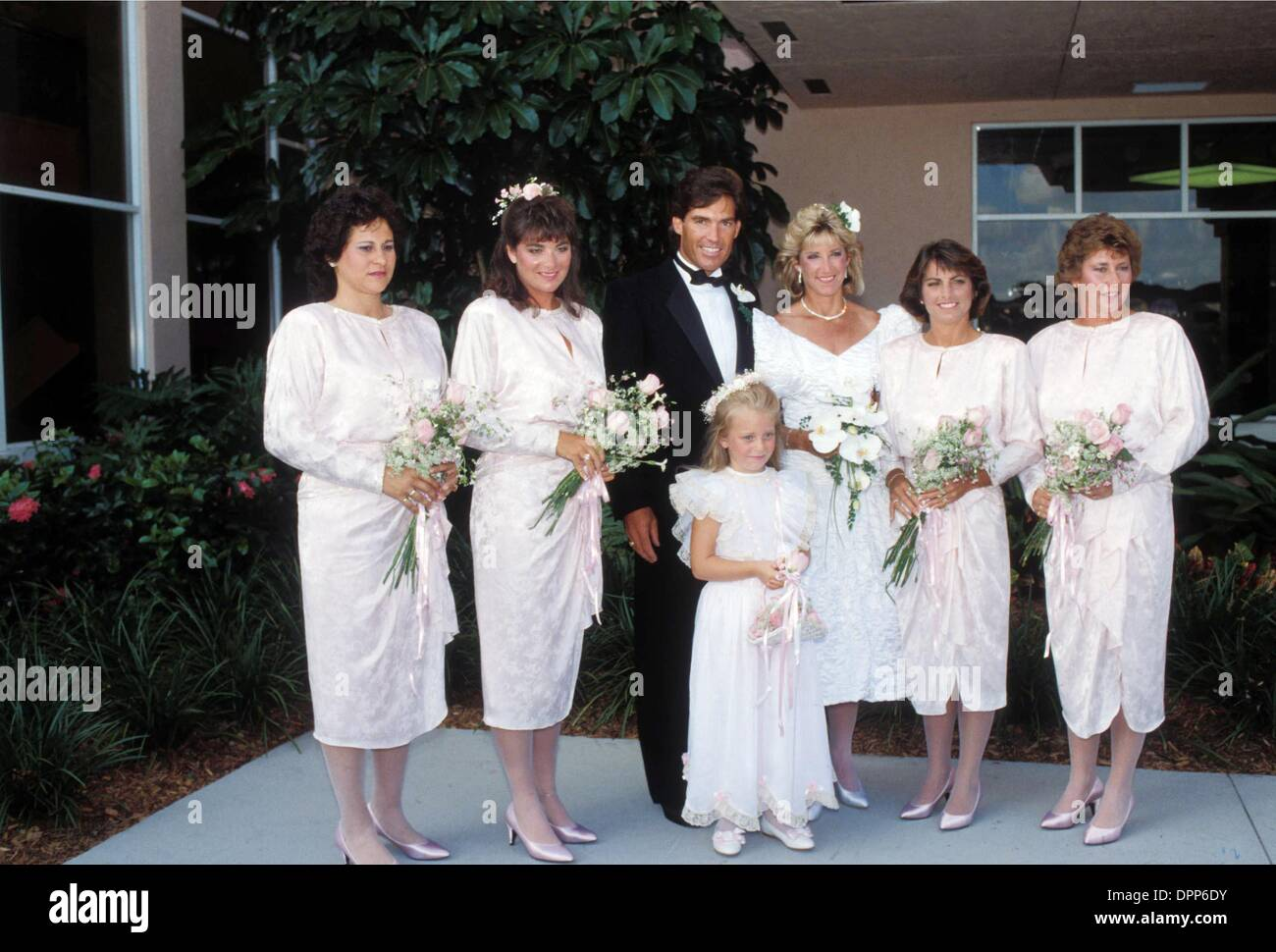 Oct 25 2006 I15099 Chris Evert Wedding To Andy Mill 07 30 1988 Stock Photo Alamy