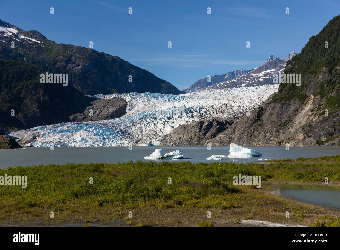 Mendenhall glacier, Juneau Alaska - Stock Image