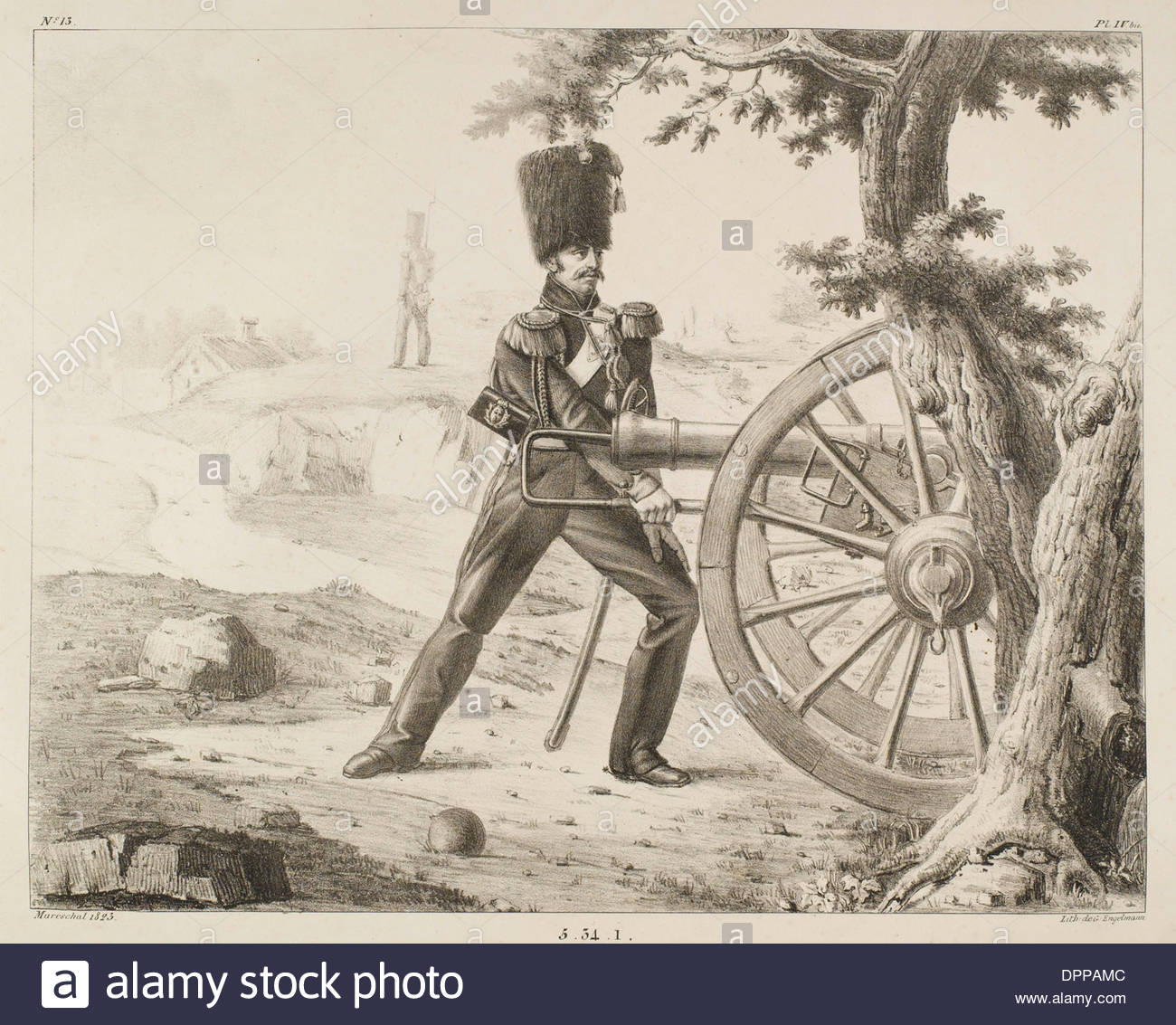 FRENCH ARTILLERY - 13 - Stock Image
