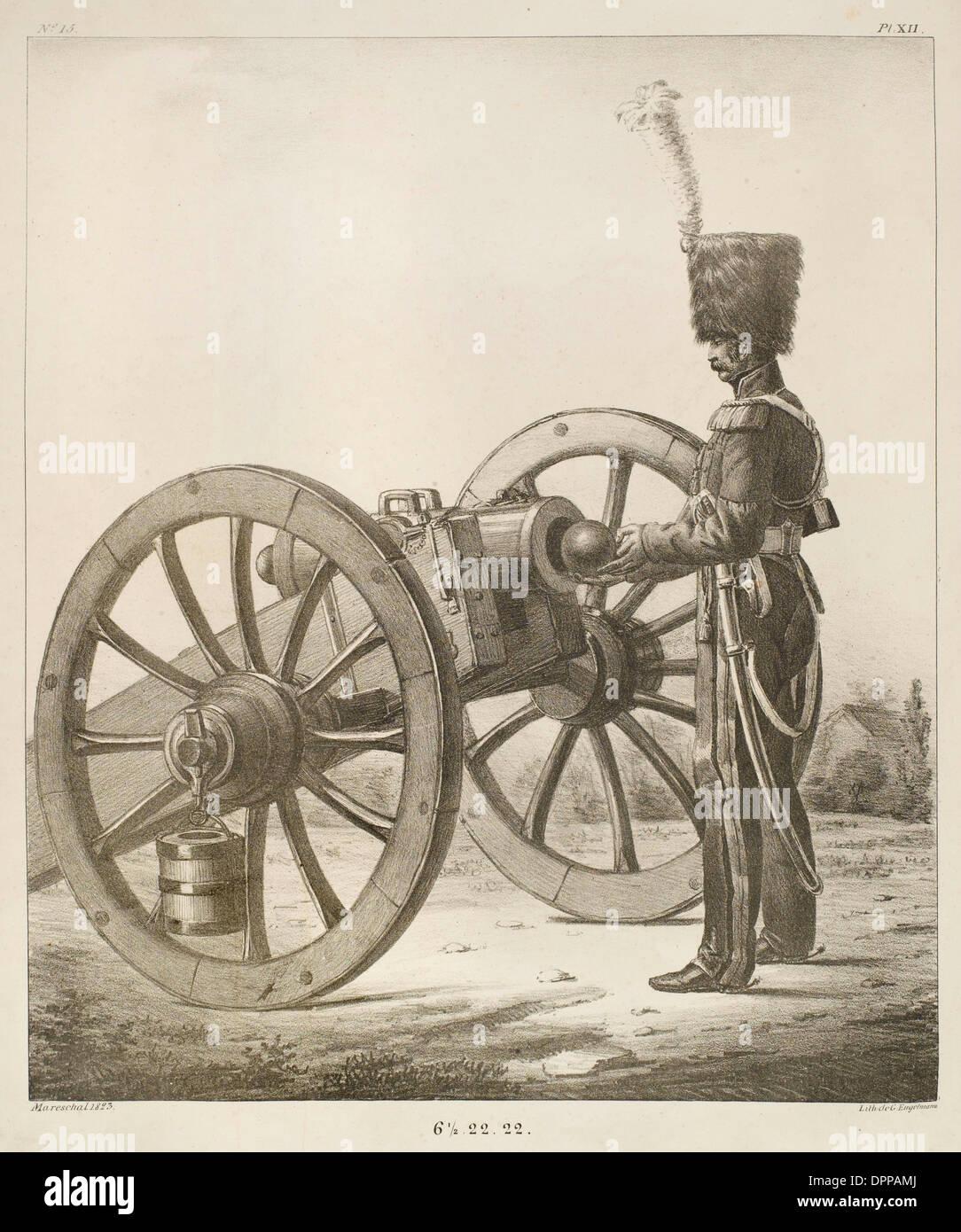 FRENCH ARTILLERY - 15 - Stock Image