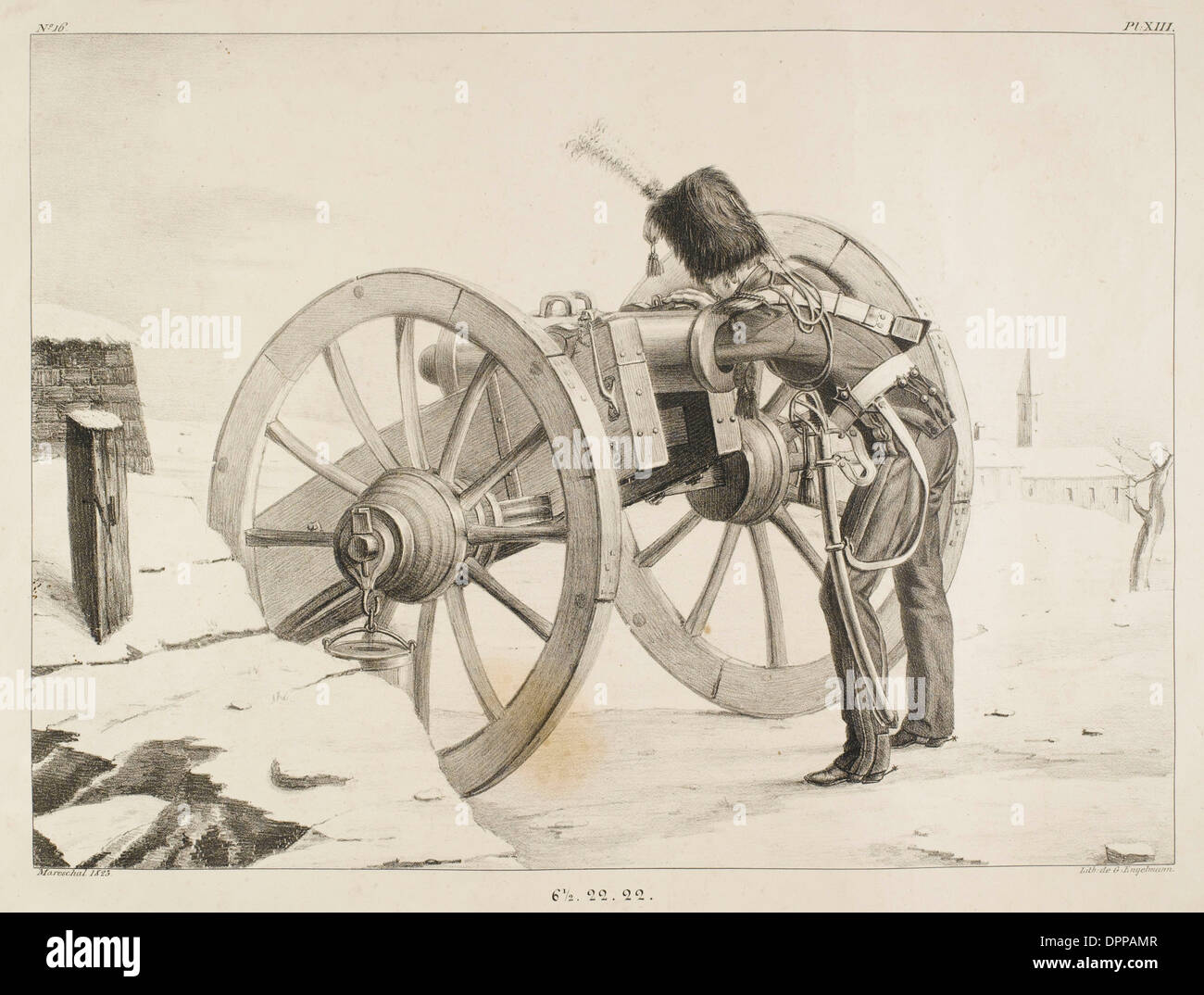 FRENCH ARTILLERY - 16 - Stock Image