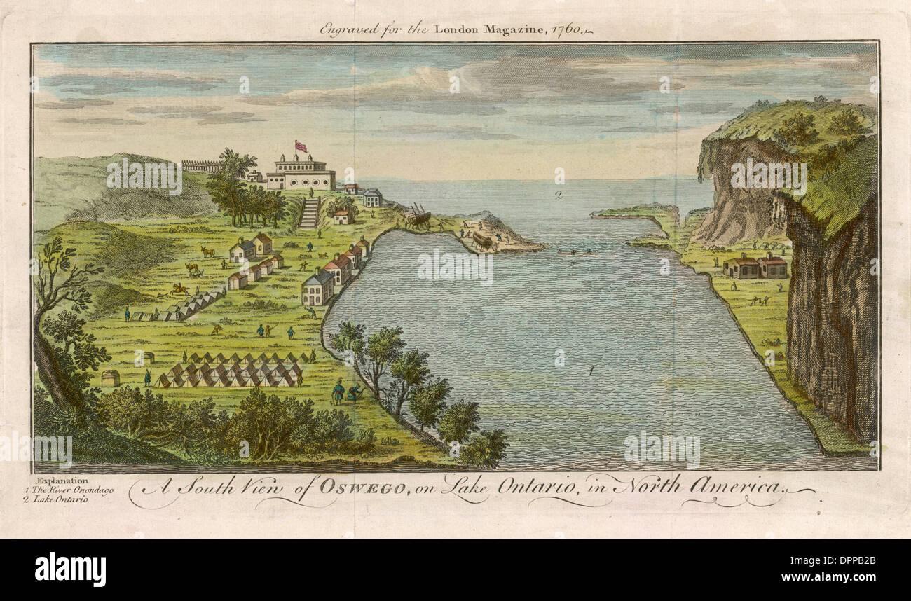 OSWEGO, 1750 - Stock Image