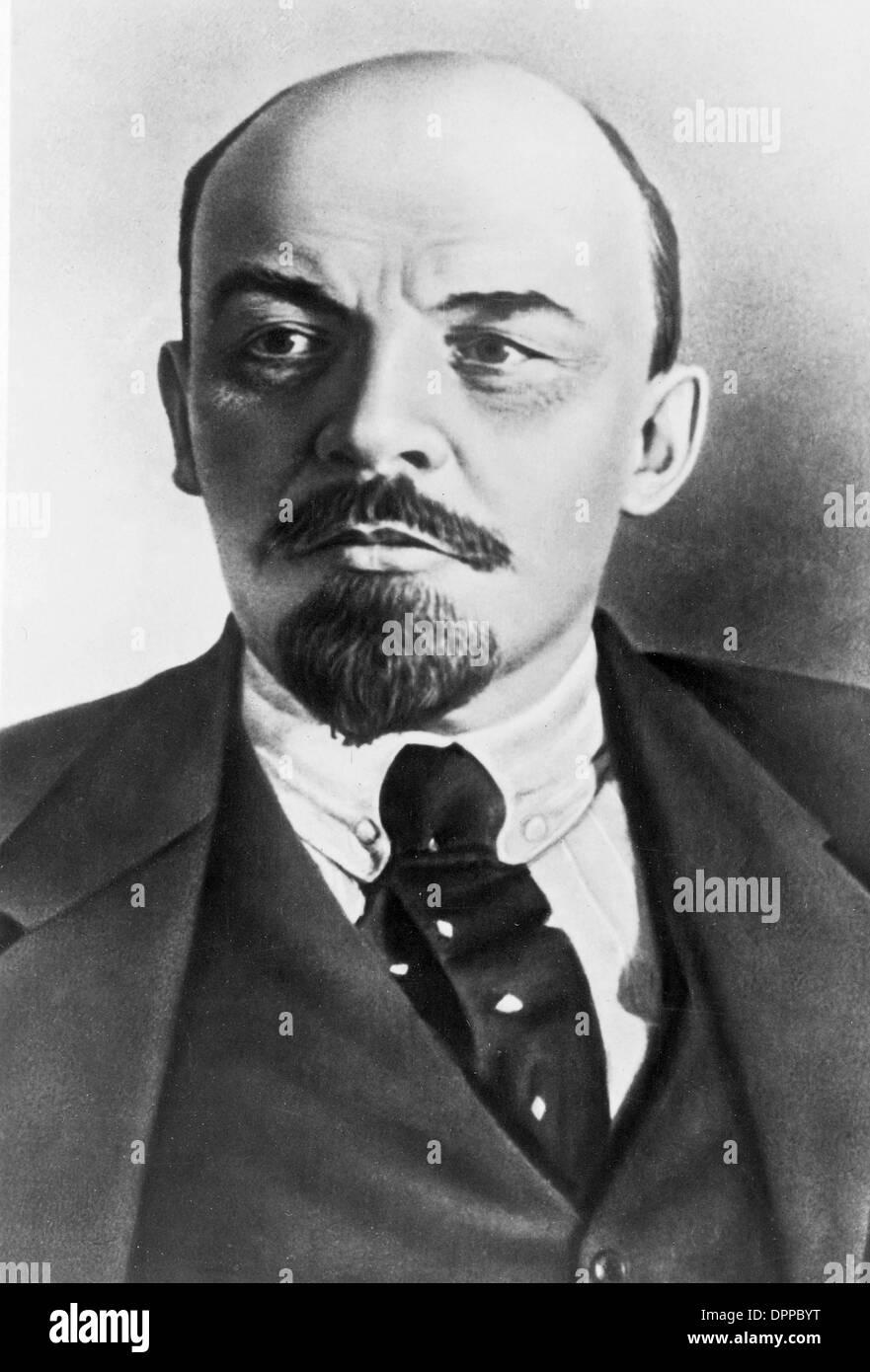 Vladimir Ilyich Lenin, Russian communist revolutionary, politician and Premier of the Soviet Union - Stock Image