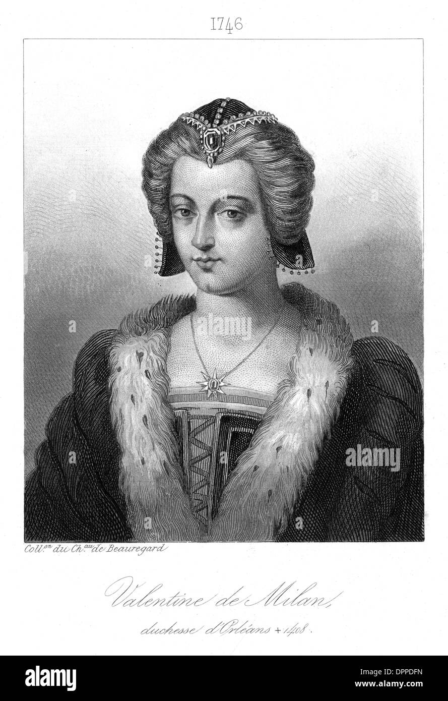 VALENTINE D'ORLEANS - Stock Image